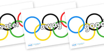 Next 200 Common Words on Olympic Rings - Next 200 Common Words on  - DfES Letters and Sounds, Letters and Sounds, Letters and sounds words, Common words, 200 common words