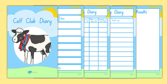 Calf Club Diary Activity Booklet