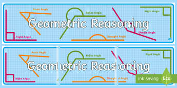 Geometric Reasoning Display Banner-Australia - Australian Curriculum Mathematics Display Banners, measurement, geometry, geometry and measurement,