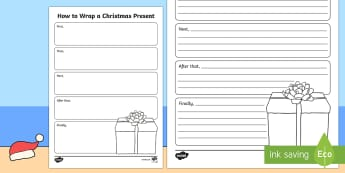 Christmas How to Wrap a Christmas Present Writing Template-Australia
