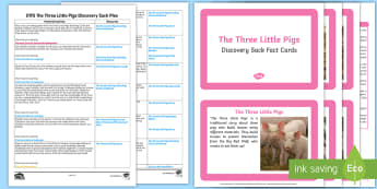 EYFS The Three Little Pigs Discovery Sack Plan and Resource Pack - discovery sack, little pig