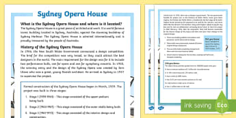 Sydney Opera House Fact File - Sydney Australia, Australia, Sydney, Opera House, buildings, landmarks