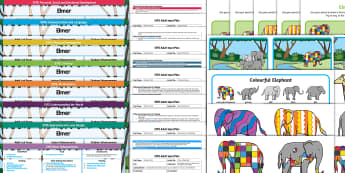 EYFS Lesson Plan Enhancement Ideas and Resource Pack - EYFS, Early Years planning, Elmer, David McKee, colour, pattern, patchwork, elephant, continuous pro