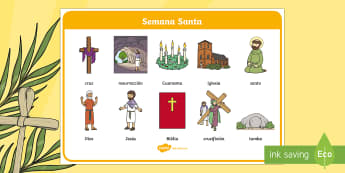 Tapiz de vocabulario: Semana Santa - Semana Santa, Pascua, Holy Week, Easter,Spanish