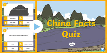 KS1 China PowerPoint Quiz - China PowerPoint Quiz - china, powerpoint, quiz, game, activity, pp, ppt, China, Asia,