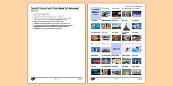Les voyages & le tourisme : Jeu pour pratiquer les temps (niveau avancé) - french, present perfect, future imperfect, travel, tourism, holidays, vacances, game, jeu past, présent, passé, composé, imparfait futur