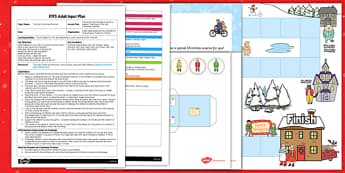 Christmas Postman Board Game EYFS Adult Input Plan and Resource Pack to Support Teaching on The Jolly Christmas Postman - eyfs, early years, planning, christmas, maths, janet and allan ahlberg, the jolly christmas postman