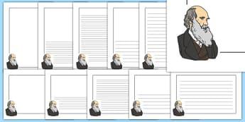 Charles Darwin Themed Page Borders - charles darwin, themed, page borders