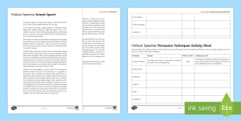 Sample Political Speech Resource Pack - Event General Election 08/06/2017 campaign, voting, elections, persuasive devices, A FOREST, rhetori