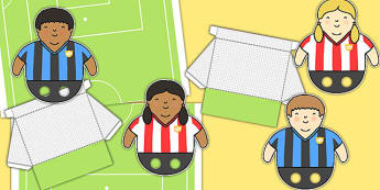 Football Pitch Goal Player Cut Out Pack - world cup, sport, cut