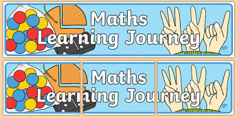 Maths Learning Journey Display Banner - maths, learning journey, display banner, display, banner, learn, journey