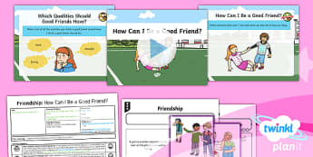 PlanIt - RE Year 1 - Friendship Lesson 2: How Can I Be a Good Friend? Lesson Pack - friendship, caring, coworking, empathy, consideration, tolerance, relationships, helping, helpful, n