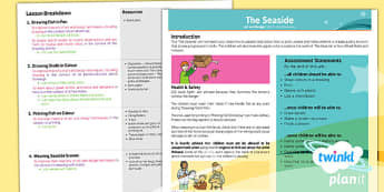 PlanIt - Art UKS2 - The Seaside Planning Overview - lesson plan