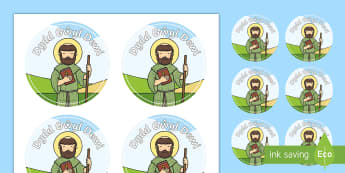 Celebrating St David's Day Stickers Welsh - Dewi Sant, St David's Day, Celebrating Welsh culture, Cwricwlwm Cymreig, Dydd Gŵyl Dewi, Wales.,We