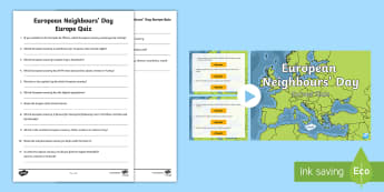 European Neighbours' Day Europe Quiz Pack - UKS2, geography, Europe, LKS2, European, Europe quiz, europe quiz, european neighbours' day, Europe