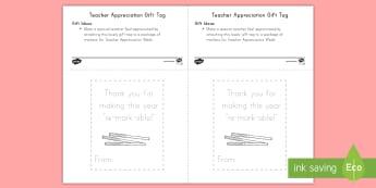 Teacher Appreciation: Marker Gift Card Template - Teacher Appreciation Week, Teacher Appreciation, Teacher Gift
