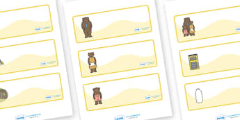 Goldilocks and the Three Bears editable Drawer, Peg, Name Labels - Editable Label Templates, Goldilocks and the Three Bears, Resource Labels, Name Labels, Editable Labels, Drawer Labels, Coat Peg Labels, Peg Label, KS1 Labels, Foundation Labels, Foun