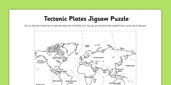 Tectonic Plates Jigsaw Puzzle Activity - tectonic plates, jigsaw puzzle, activity, jigsaw, puzzle