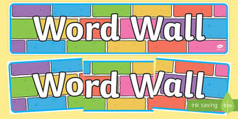 Word Wall Display Banner Colour Bricks - word wall display banner colour bricks, word wall, banner, display, sign poster, wow words, words, describing, DfES Letters and Sounds, letters and sounds, word, brick, colour