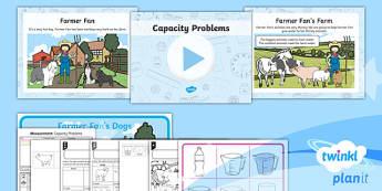PlanIt Y1 Measurement Lesson Pack - Measurement, measuring, compare, describe, capacity, volume, reading scales, problem solving, practi
