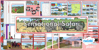 PlanIt - Geography Year 2 - Sensational Safari Unit Additional Resources - planit, geography, safari, year 2