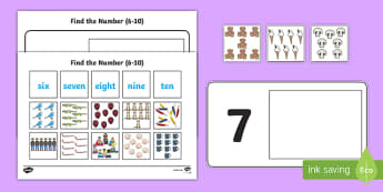 Workstation Pack: Find the Number (6 -  10) Activity