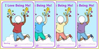 I Love Being Me Display Poster - usa, america, i like myself, all about me, i love being me, display poster