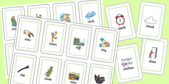 CL Flash Cards - cl, flash cards, flash cards, sen, sounds, cl sound, speech, language
