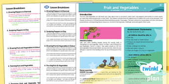 PlanIt - Art LKS2 - Fruit and Vegetables Planning Overview CfE - Art, art and design, food, healthy, eating, KS2, year 3, year 4
