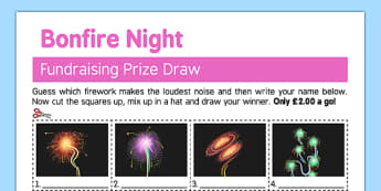 Guess the Firework Fundraising Sheet - guess, firework, fundraising, sheet, bonfire night