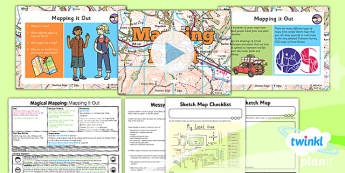 PlanIt - Geography Year 2 - Magical Mapping Lesson 1: Mapping It Out Lesson Pack - maps, planning, geography, year 2, y 2, ks1, key stage 1, plans, lessons, lesson, unit, pack, 2014, curriculum, maps