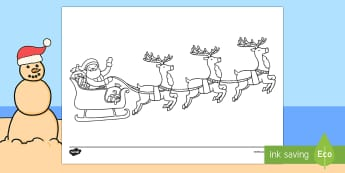 Reindeer Listen and Colour Activity Sheet