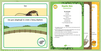 Playdough Recipe and Mat Pack to Support Teaching on Dear Zoo - Dear Zoo, Rod Campbell, animals, letter to the zoo, playdough, malleable