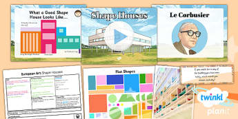 PlanIt - Art LKS2 - European Art Lesson 3: Shape Houses Lesson Pack