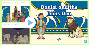 Daniel and the Lion's Den Story PowerPoint - daniel and the lions den, daniel and the lions den powerpoint, daniel and the lions den story, bible story, bible stories, kindergarten, elementary, usa