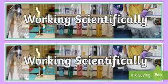 Working Scientifically Photo Display Banner - working scientifically, photo display banner, display banner, banner, photo banner, header, photo header