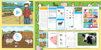 Farm Animals Early Childhood Resource Pack - Early Childhood Animals, Animals, Pre-K Animals, K4 Animals, 4K Animals, Preschool Animals, Farm Ani