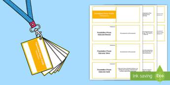 Lanyard Sized Foundation Phase Temperature Skills Ladder Cards -  Lanyard Foundation Phase Outcomes, Foundation Phase, Foundation Phase Profile, FPP, Wales, Assessme