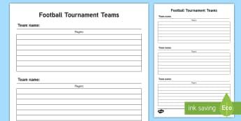 KS1 Football Tournament Teams Adult Guidance - KS1, Key Stage 1, Year 1, Y1, Year 2, Y2, PE, Physical Education, Sport, Exercise, Teams, Games, Foo