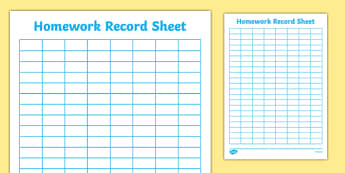 Editable Homework Record Chart - Howework record chart, recording homework, homework checklist, homework record, homework