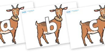 Phoneme Set on Medium Billy Goats - Phoneme set, phonemes, phoneme, Letters and Sounds, DfES, display, Phase 1, Phase 2, Phase 3, Phase 5, Foundation, Literacy