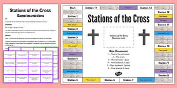 Stations of the Cross Board Game - stations of the cross, easter