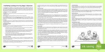 Scaffolding Learning in the Classroom Guide - scaffolding, differentiation, reading, visual organiser, questioning, vocabulary