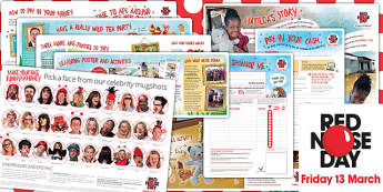 Red Nose Day 2015 Fundraising Pack - red nose day, 2015, pack