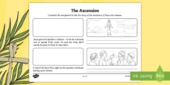 The Ascension Storyboard Activity Sheet - NI, Ascension, Jesus, Easter, storyboard, Bible, apostles, worksheet