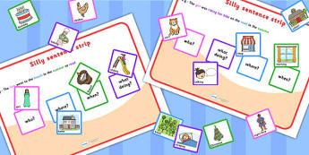 Silly Sentences - sentence making, sentence form, sentence game