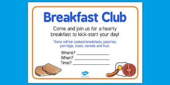 Elderly Care Hydration and Nutrition Week Breakfast Club Poster - Elderly, Reminiscence, Care Homes, Hydration and Nutrition Week