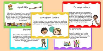 Jocuri pentru clasă - Cartonașe