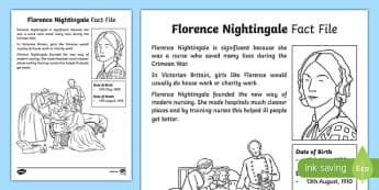 Florence Nightingale Significant Individual Fact Sheet - Florence