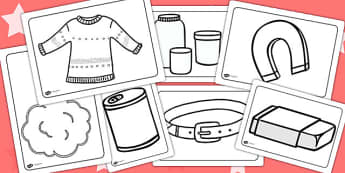 Materials Colouring Pages - materials, colouring, colours, pages